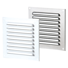 VENTS Supply and exhaust single-row metal edge-raised grilles MVMPO series