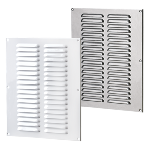 VENTS Supply and exhaust multiple-row metal edge-raised grilles MVMPO series