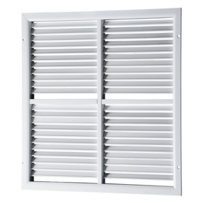VENTS ORK series single-row grilles with adjustable louvers, sectional