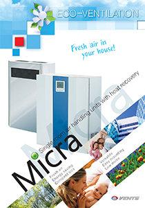 Single room air handling units with heat recovery MICRA