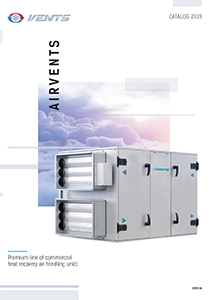 """AIRVENTS: Premium line of commercial heat recovery air handling units"" catalog 2019"